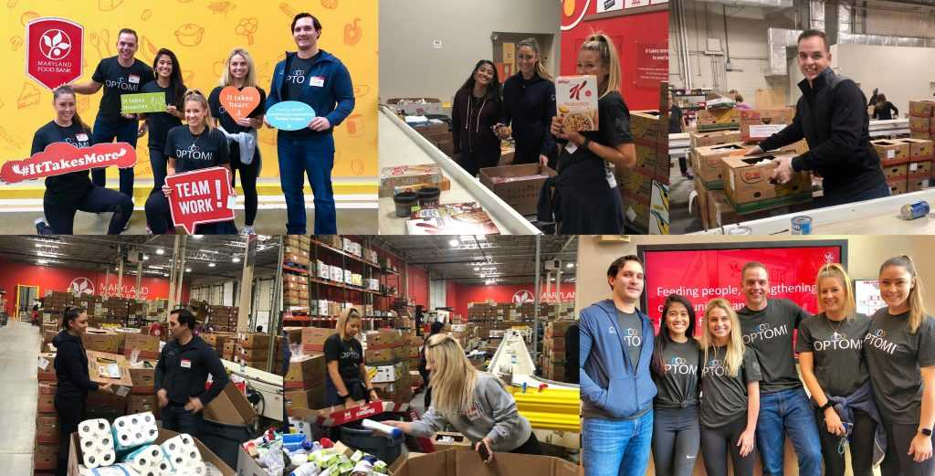 Optomi's Baltimore Team Spent Opt2give day at the Maryland Food Bank