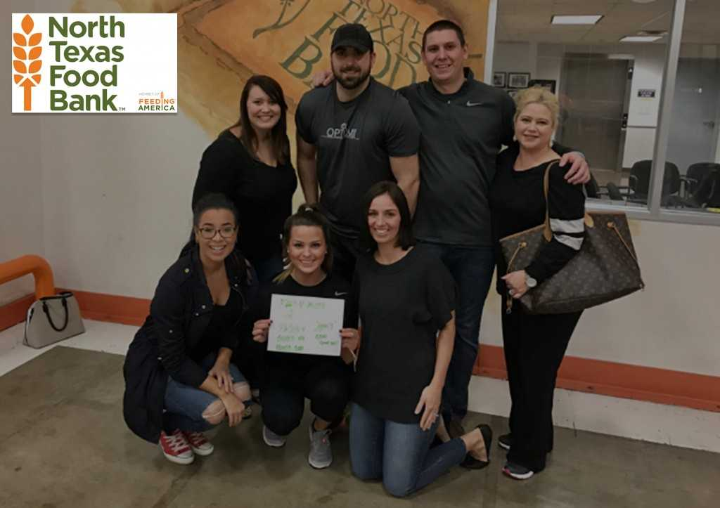 Our Dallas Team spends time packing food for the North Texas Food Bank