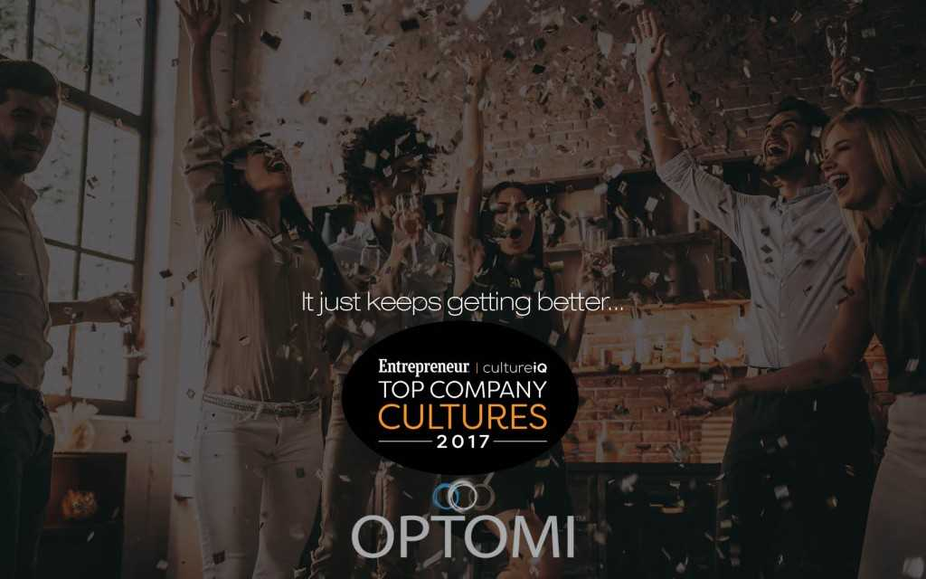 Tech Staffing Firm Optomi Recognized on Entrepreneur Magazine's 2017 Top Company Cultures List