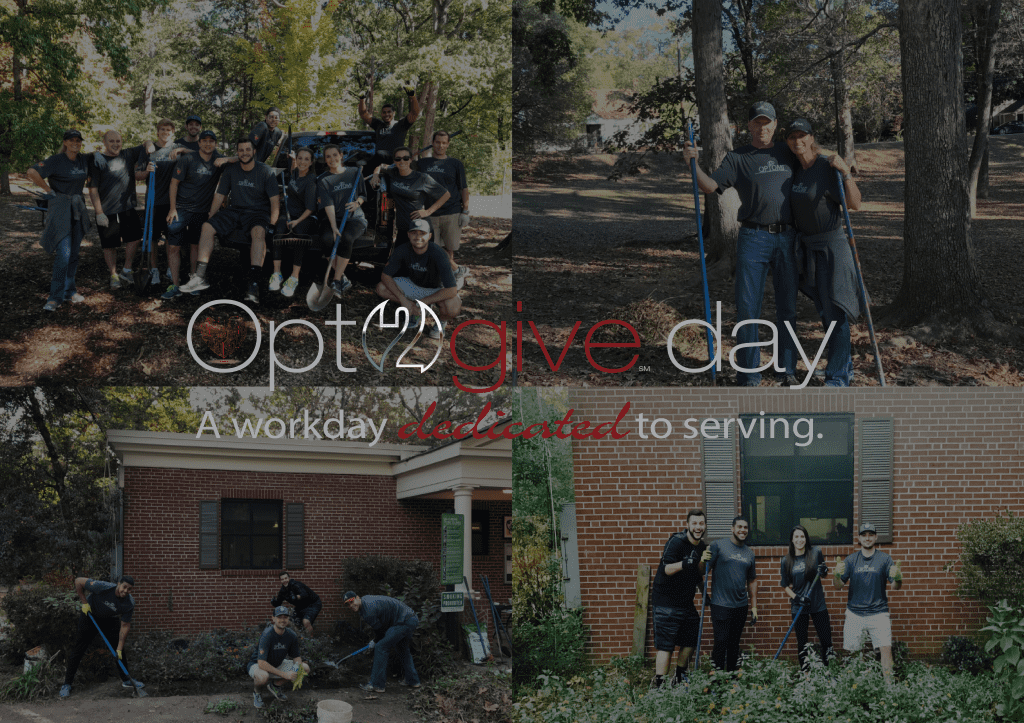 Our Atlanta Team spends the day pitching in at the East Atlanta's Kids Club for Opt2give Day 2016