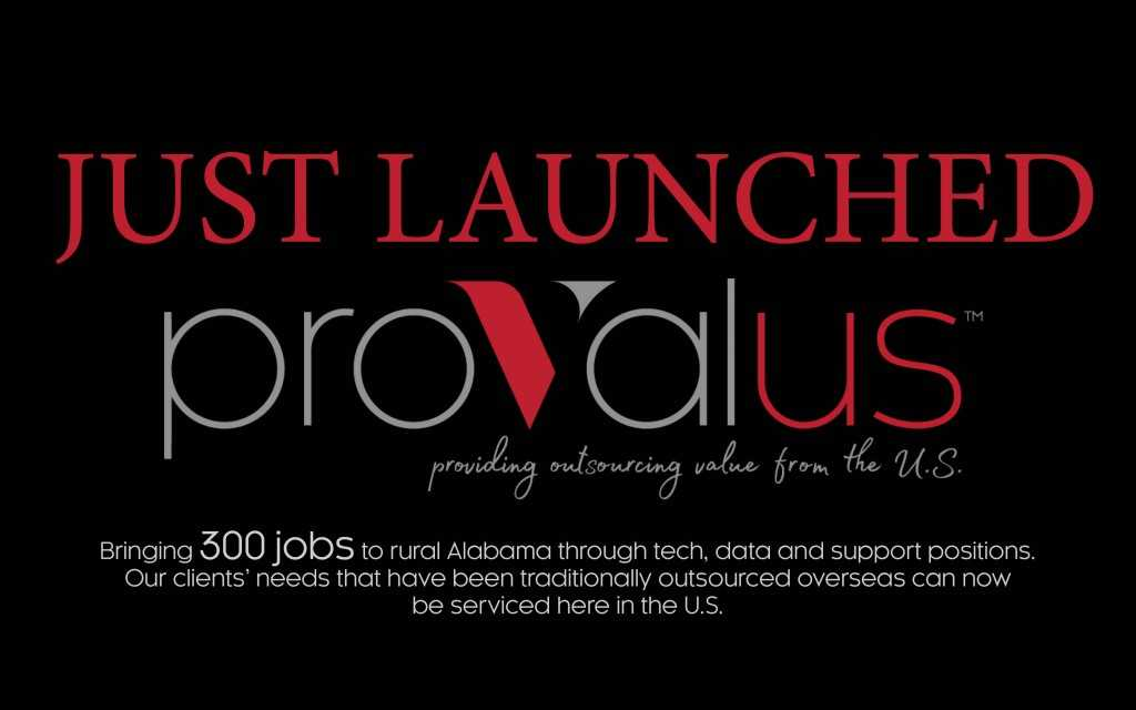 IT Services Firm Provalus to Create 300 Jobs at Alabama Facility