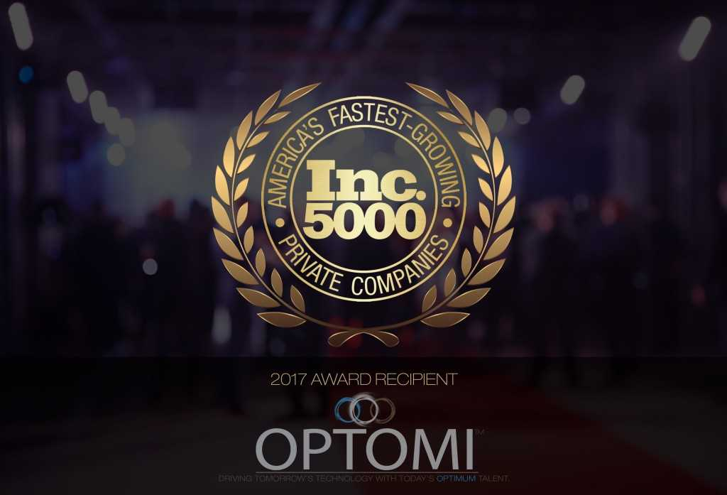 Optomi Honored as an INC 5000 Fastest Growing Private Company in its First Year of Eligibility